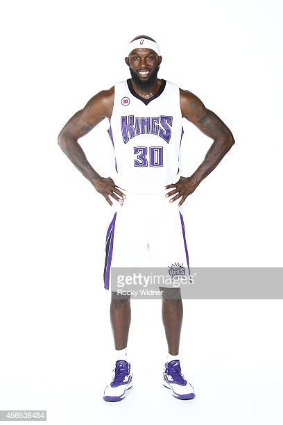 Reggie Evans of the Sacramento Kings poses for a photo on media day September 26 2014 at the Kings practice facility in Sacramento California NOTE TO...