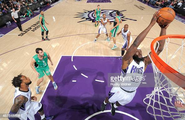 Reggie Evans of the Sacramento Kings rebounds against Maccabi Haifa on October 18 2014 at Sleep Train Arena in Sacramento California NOTE TO USER...