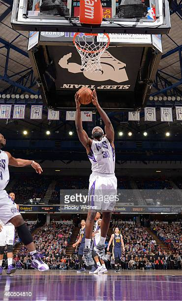 Reggie Evans of the Sacramento Kings rebounds against the Utah Jazz on December 8 2014 at Sleep Train Arena in Sacramento California NOTE TO USER...
