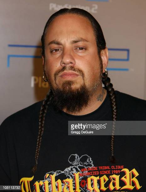 Reggie 'Fieldy' Arvizu of 'Korn' during Playstation 2 'Playa Del Playstation' Party at Viceroy Hotel in Santa Monica California United States