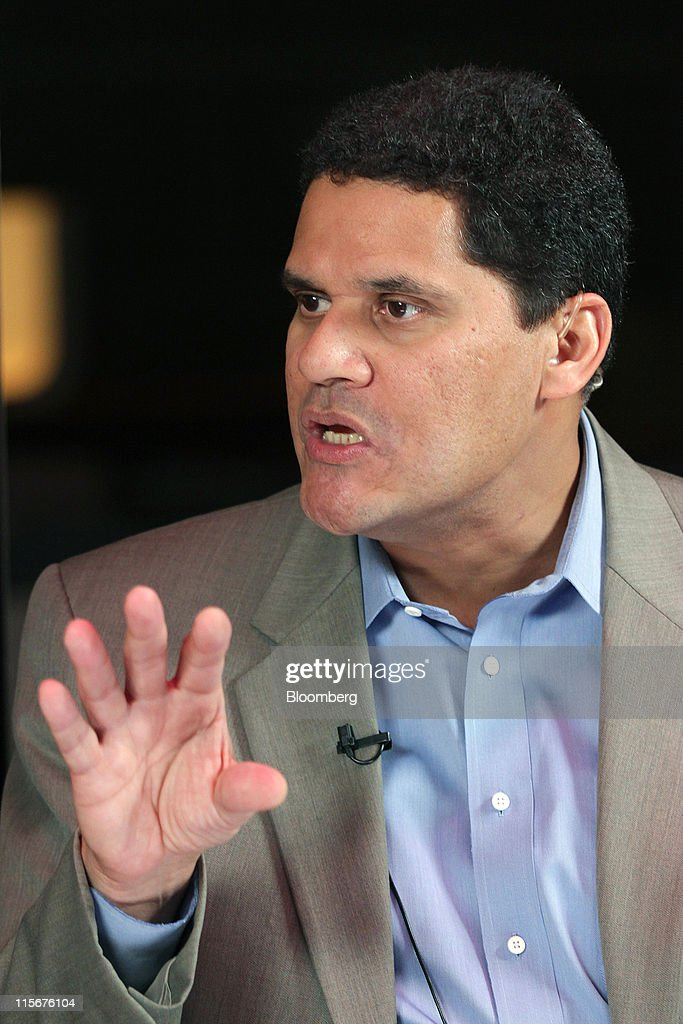 Reggie Fils-Aime, president of Nintendo America, speaks during a Bloomberg via Getty Images West Television interview on the sidelines of the Electronic Entertainment Expo (E3) in Los Angeles, California, U.S., on Wednesday, June 8, 2011. Nintendo Co., the world's largest maker of video-game players, plans to begin selling the WiiU high-definition video-game console next year. Photographer: Jonathan Alcorn/Bloomberg via Getty Images