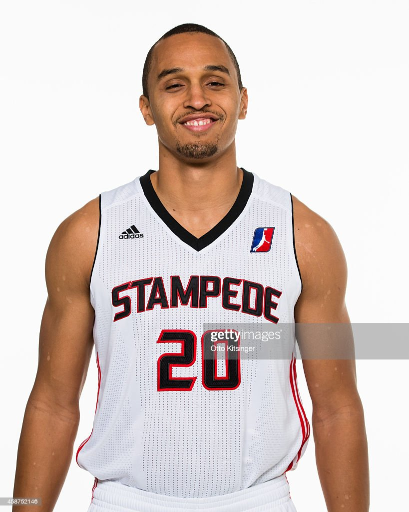 Reggie Hearn of the Idaho Stampede poses for a portrait during Media Day on November 9 2014 at CenturyLink Arena in Boise Idaho NOTE TO USER User...