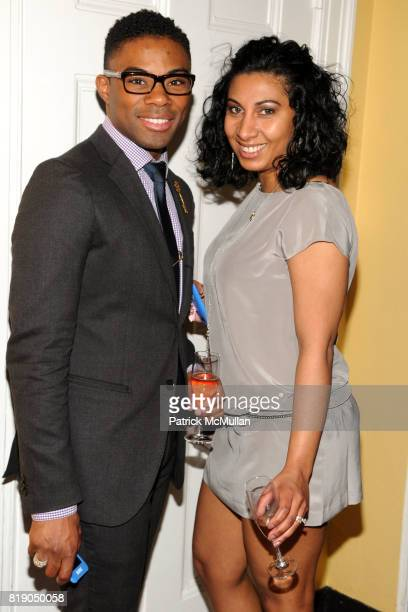 Reggie Hill and Zavaika Sundown attend NEW YORK JUNIOR LEAGUE 'Babes Bags and Bubbles' Auction at New York Junior League on May 6 2010 in New York...