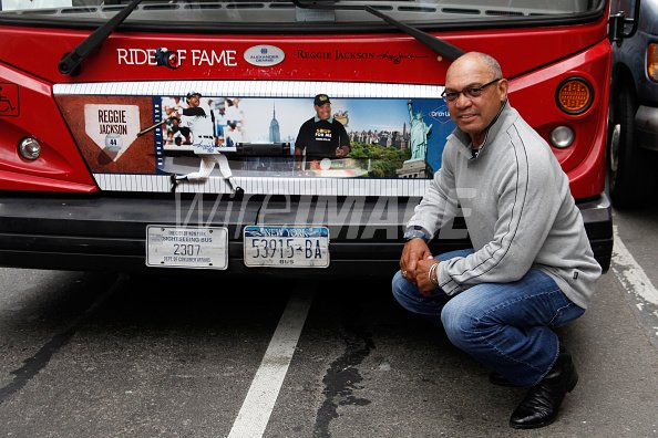 Reggie Jackson attends Gray Line...
