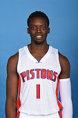 Reggie Jackson of the Detroit Pistons poses for a portrait during media day on September 28 2015 at The Palace of Auburn Hills in Auburn Hills...