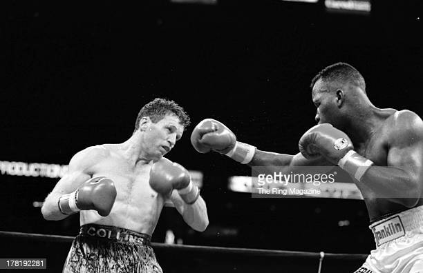 Reggie Johnson throws a punch against Steve Collins during the fight at Meadowlands Arena in East Rutherford New Jersey Reggie Johnson won vacant WBA...