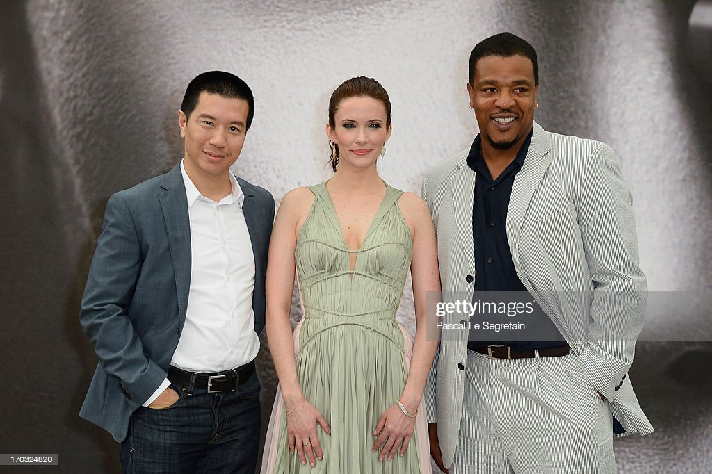 Reggie Lee, <a gi-track='captionPersonalityLinkClicked' href=/galleries/search?phrase=Bitsie+Tulloch&family=editorial&specificpeople=4616199 ng-click='$event.stopPropagation()'>Bitsie Tulloch</a> and <a gi-track='captionPersonalityLinkClicked' href=/galleries/search?phrase=Russell+Hornsby&family=editorial&specificpeople=546635 ng-click='$event.stopPropagation()'>Russell Hornsby</a> pose at a photocall during the 53rd Monte Carlo TV Festival on June 10, 2013 in Monte-Carlo, Monaco.