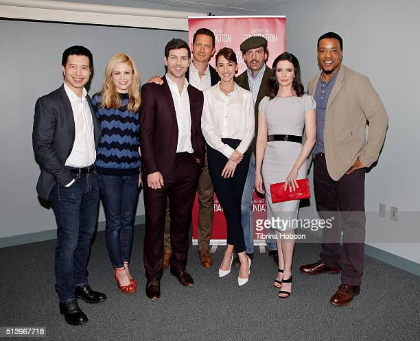 Reggie Lee Claire Coffee David Giuntoli Bree Turner Bitsie Tulloch Russell Hornsby Sasha Roiz and Silas Weir Mitchell attend the SAGAFTRA Foundation...