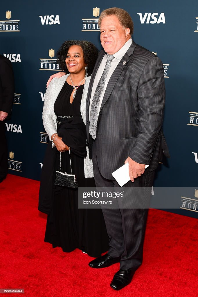 Reggie McKenzie General Manager of the Oakland Raiders and his wife on the Red Carpet during the NFL Honors Red Carpet on February 4, 2017 at the Worthan Theater Center, Houston, Texas.
