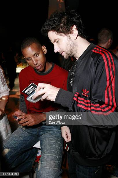 Reggie Miller and Jamie Kennedy during Maria Menounos Birthday Party Hosted by Belvedere Vodka at Private Home in Los Angeles CA United States