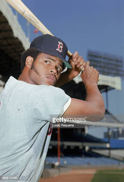 Reggie Smith of the Boston Red Sox poses for a portrait at Yankee Stadium in the Bronx New York Smith played for the Sox from 19661976