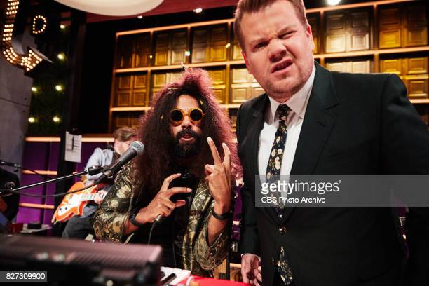 Reggie Watts and James Corden say goodnight during 'The Late Late Show with James Corden' Tuesday August 1 2017 On The CBS Television Network