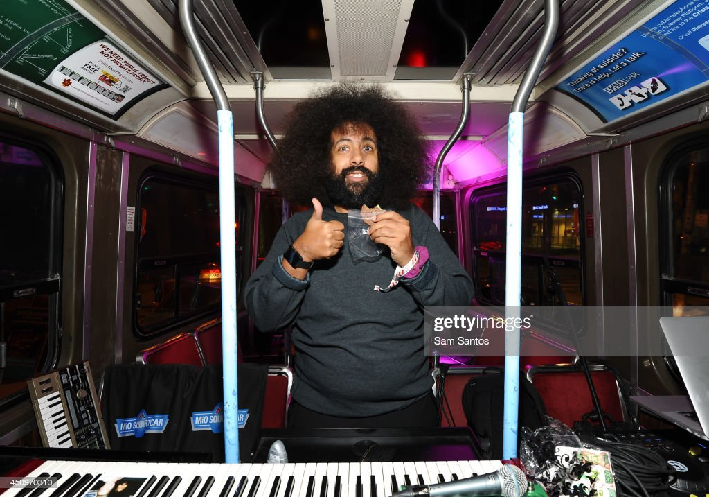<a gi-track='captionPersonalityLinkClicked' href=/galleries/search?phrase=Reggie+Watts&family=editorial&specificpeople=2221425 ng-click='$event.stopPropagation()'>Reggie Watts</a> attends the MiO Squirtcar - Day 3 on June 20, 2014 in Toronto, Canada.