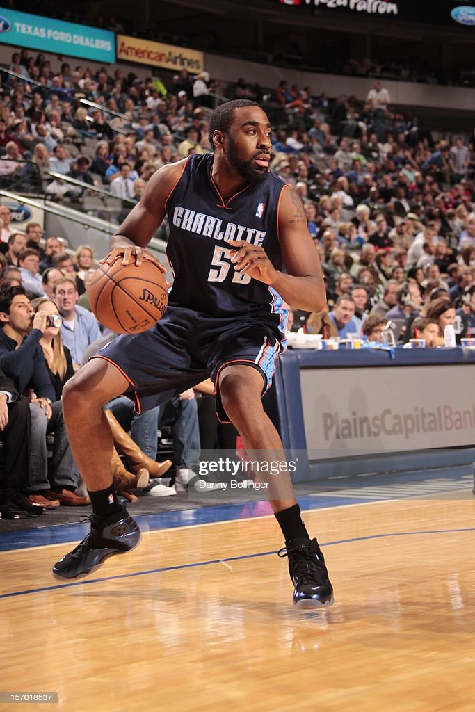Reggie Williams #55 of the Charlotte Bobcats gets ready to drive to the basket against the Dallas Mavericks on October 26, 2012 at the American Airlines Center in Dallas, Texas.