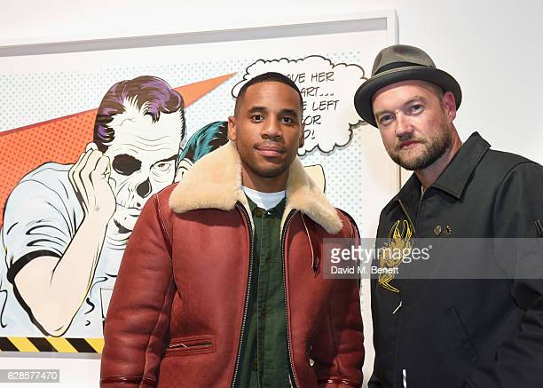 Reggie Yates and D*Face attend The Dean Collection X Bacardi Present No Commission London on December 8 2016 in London England