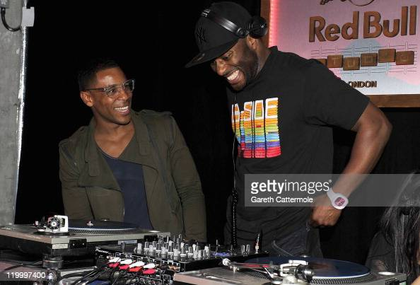 Reggie Yates and DJ Manny Norte perform onstage at the Red Bull Hip Hop A Cultural Odyssey Book Launch on July 28 2011 in London England