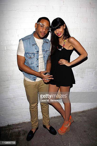Reggie Yates and Jameela Jamil attend the Lacoste Lve Launch at The Victorian Basement on March 24 2011 in London England