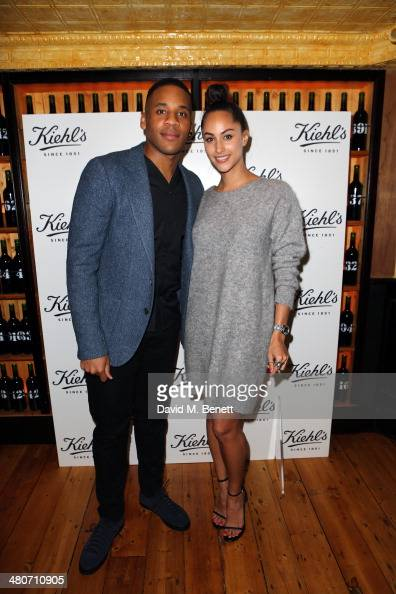 Reggie Yates and Tia Ward attend the Kiehl's private dinner to celebrate Kiehl's most iconic products at Balthazar Restaurant on March 26 2014 in...