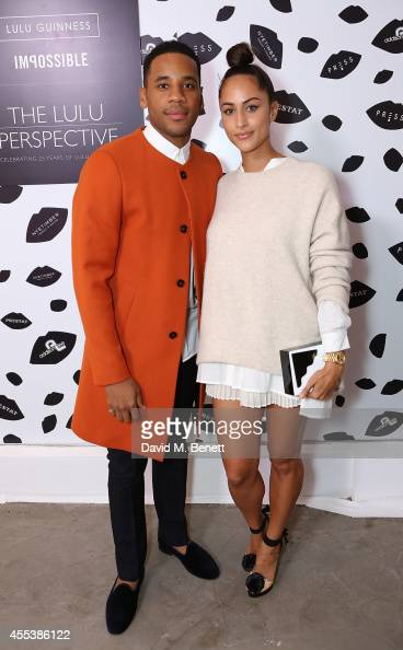 Reggie Yates and Tia Ward attend the launch of The Lulu Perspective To Celebrate 25 Years of Lulu Guinness on September 13 2014 in London United...