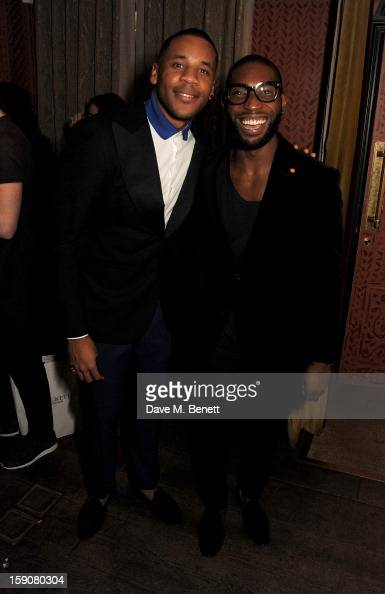 Reggie Yates and Tinie Tempah attend the Esquire and Tommy Hilfiger party celebrating London Collections MEN AW13 hosted by Esquire editor Alex...