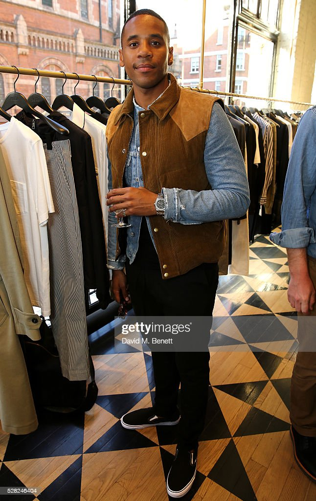 Reggie Yates attends Ami Mayfair Store Opening on May 4, 2016 in London, England.