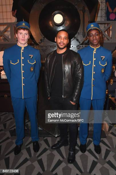 Reggie Yates attends the Aspinal of London presentation during London Fashion Week September 2017 on September 18 2017 in London England