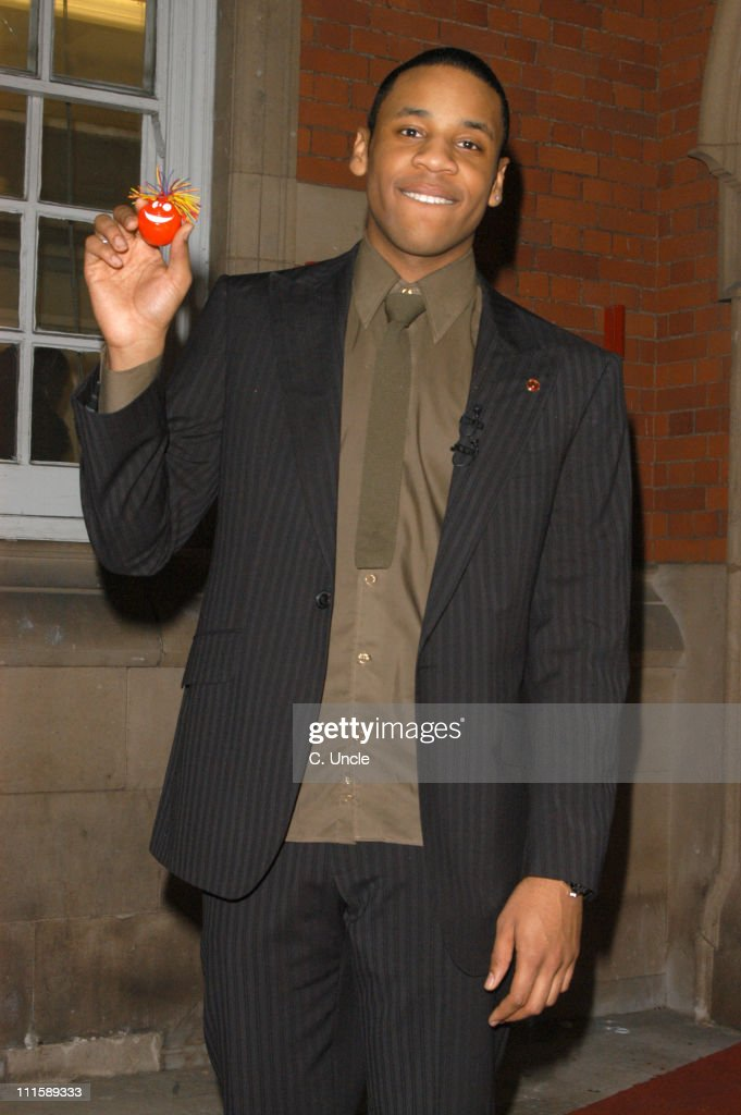 Reggie Yates during Comic Relief Does Fame Academy 2005 Reggie Yates Eviction at Lambeth College in London Great Britain