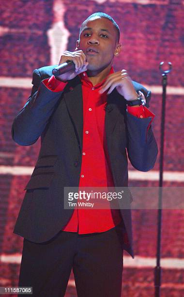 Reggie Yates during Comic Relief Does Fame Academy March 5 2005 at Lambeth College in London England Great Britain