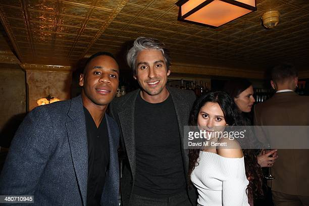 Reggie Yates George Lamb and Eliza Doolitlte attend the Kiehl's private dinner to celebrate Kiehl's most iconic products at Balthazar Restaurant on...