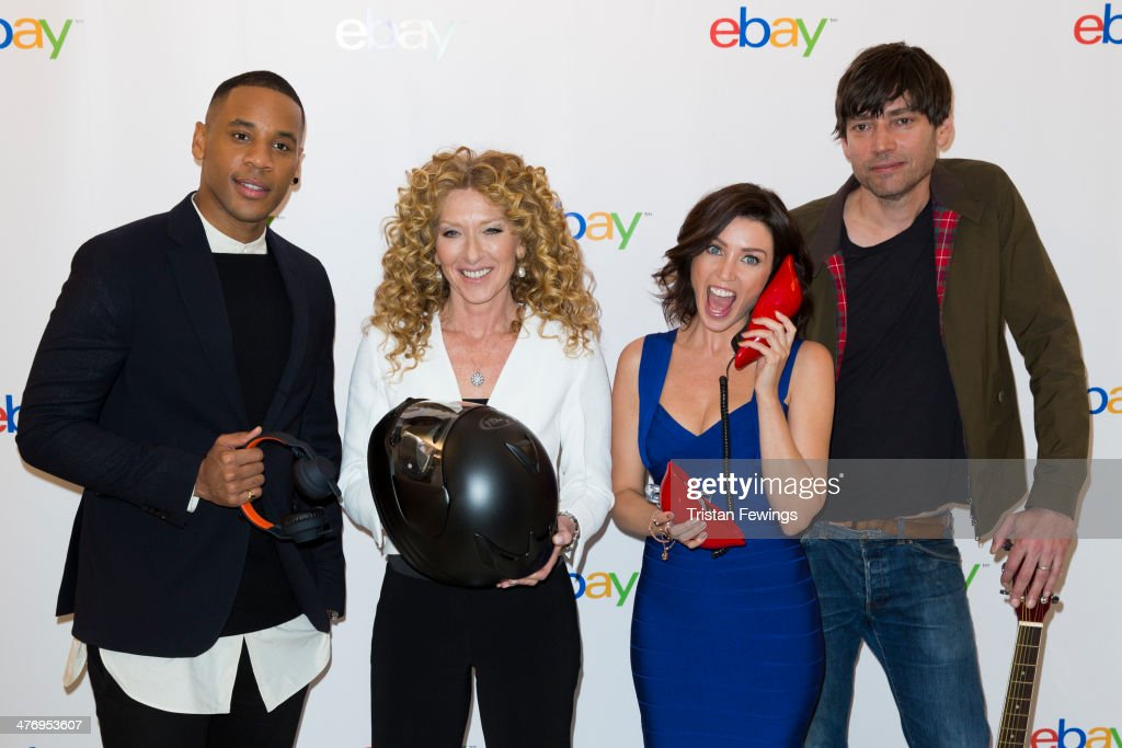 Reggie Yates; Kelly Hoppen; Dannii Minogue and Alex James at Rook and Raven on March 6, 2014 in London, England.