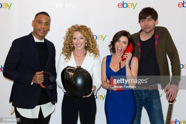 Reggie Yates Kelly Hoppen Dannii Minogue and Alex James at Rook and Raven on March 6 2014 in London England