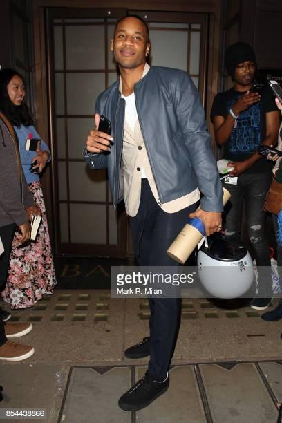 Reggie Yates leaving BAFTA on September 26 2017 in London England