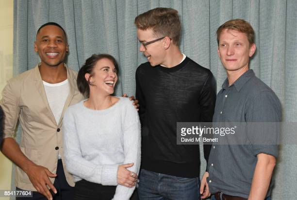 Reggie Yates Vicky McClure Will Poulter and Tom Harper attend the BAFTA Breakthrough Brits jury announcement at BAFTA Piccadilly on September 26 2017...