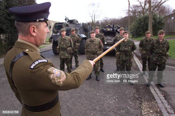 Regimental Sergeant Major Adrian Davies gets his men of the 1st Battalion Welsh Guards in line at Aldershot The Welsh Guards are moving to St Athan...