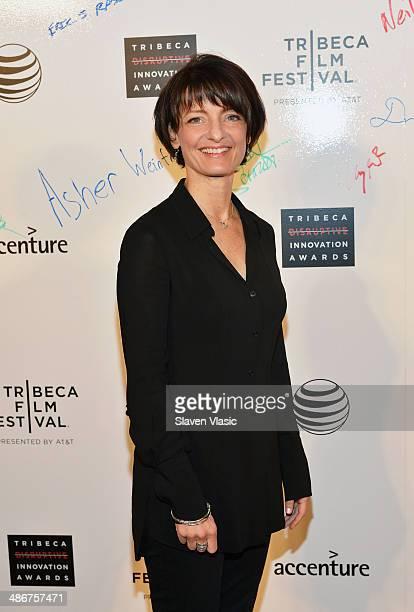 Regina Dugan attends The Disruptive Innovation Awards during the 2014 Tribeca Film Festivalat at NYU Skirball Center on April 25 2014 in New York City