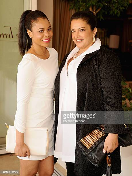 Regina Hall and makeup artist Rea Ann Silva attend the Dior Beauty Operation Smile Luncheon at Sunset Tower on January 8 2014 in West Hollywood...