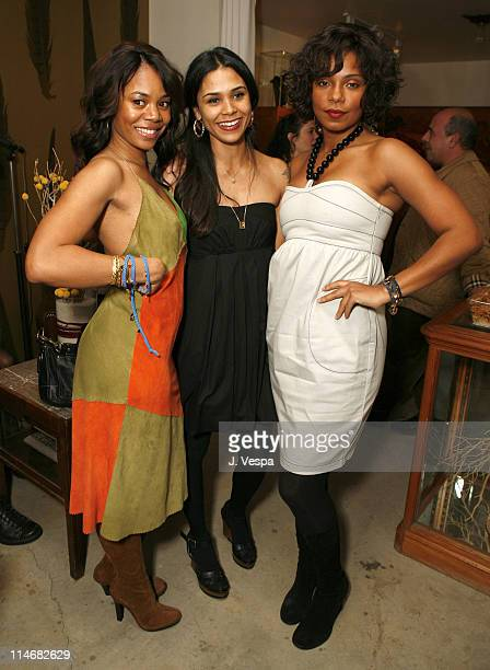 Regina Hall Kidada Jones and Sanaa Lathan during Cavern Wallpaper and Kidada for Disney Coutour Celebrate Their New Collections at Kaviar and Kind in...