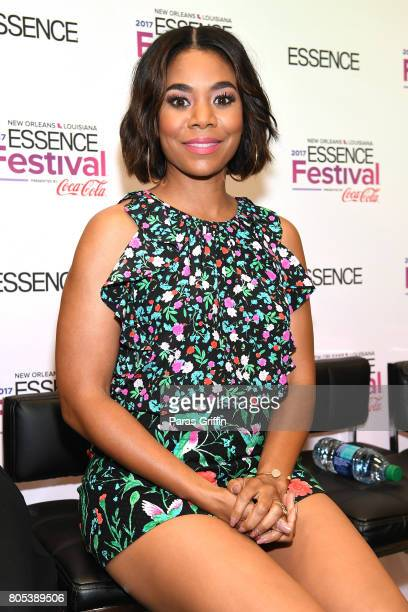 Regina Hall poses in the press room at the 2017 ESSENCE Festival presented by CocaCola at Ernest N Morial Convention Center on July 1 2017 in New...