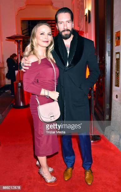 Regina Halmich and Alec Voelkel attend the Ein Herz Fuer Kinder Gala 2017 After Show Party at Borchardt Restaurant on December 9 2017 in Berlin...