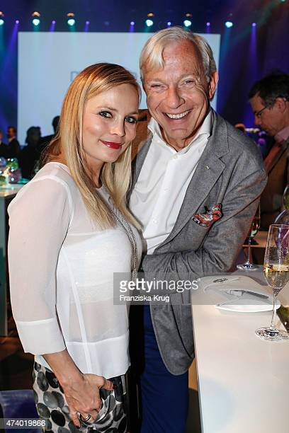 Regina Halmich and Jo Groebel attend the made inde Award 2015 on May 19 2015 in Berlin Germany