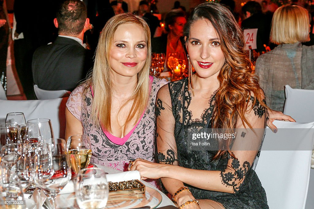 Regina Halmich and Johanna Klum attend the Rosenball 2016 on April 30, 2016 in Berlin, Germany.