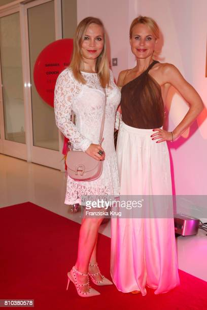 Regina Halmich and Sonja Kiefer attend the Gala Fashion Brunch during the MercedesBenz Fashion Week Berlin Spring/Summer 2018 at Ellington Hotel on...