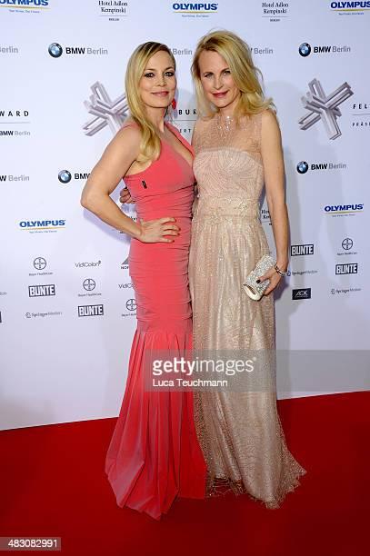 Regina Halmich and Sonja Kieferattend Felix Burda Award 2014 at Hotel Adlon on April 6 2014 in Berlin Germany
