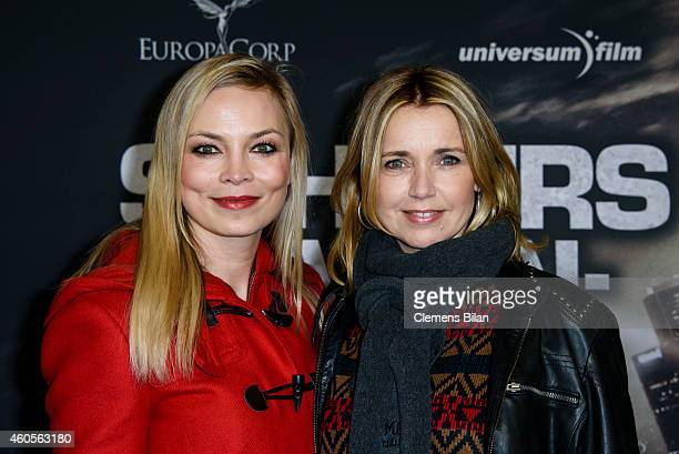 Regina Halmich and Tina Ruland attend the premiere of the film '96 Hours Taken 3' at Zoo Palast on December 16 2014 in Berlin Germany