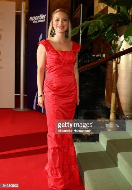 Regina Halmich arrives for the 'Athlete of the Year' gala at the Kurhaus BadenBaden on December 20 2009 in Baden Baden Germany