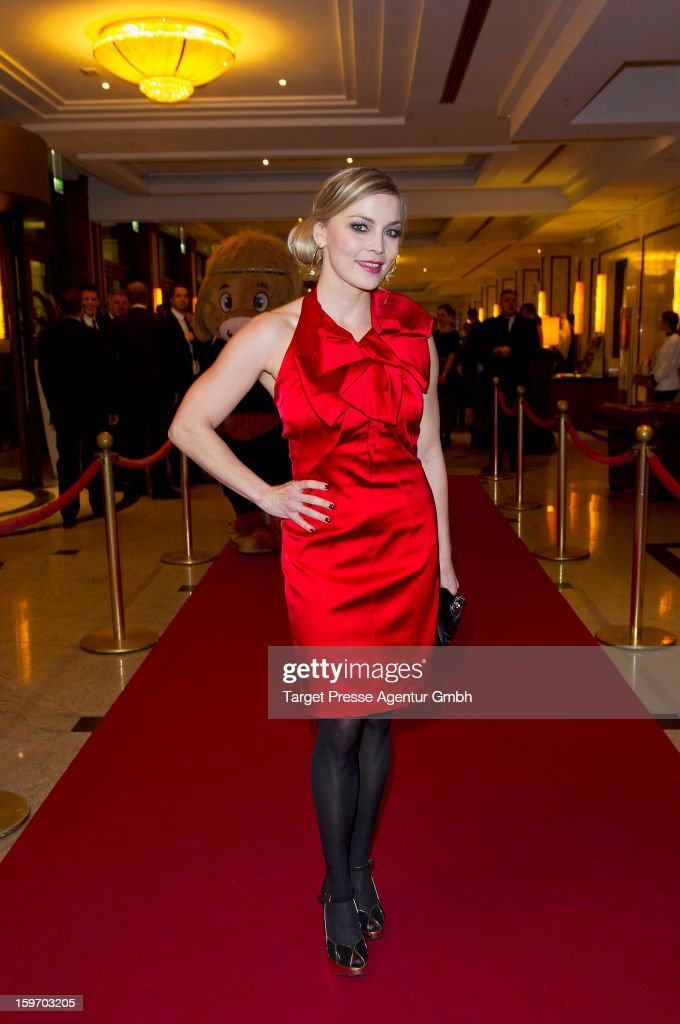Regina Halmich attends the Fitness First New You Achievement Awards at the Maritim Hotel on January 18, 2013 in Berlin, Germany.
