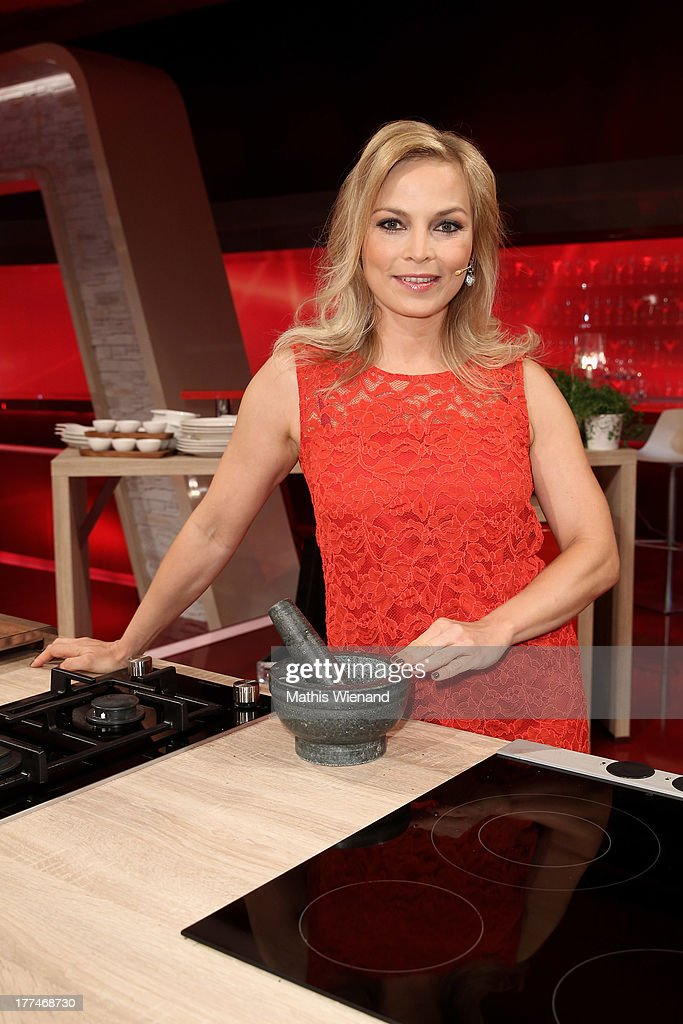 <a gi-track='captionPersonalityLinkClicked' href=/galleries/search?phrase=Regina+Halmich&family=editorial&specificpeople=171815 ng-click='$event.stopPropagation()'>Regina Halmich</a> attends the 'Grill den Henssler - die neue Kocharena' Photocall at Coloneum on August 23, 2013 in Cologne, Germany.