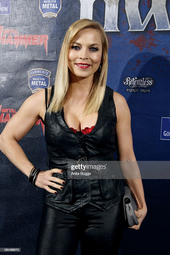 <a gi-track='captionPersonalityLinkClicked' href=/galleries/search?phrase=Regina+Halmich&family=editorial&specificpeople=171815 ng-click='$event.stopPropagation()'>Regina Halmich</a> attends the Metal Hammer Awards 2013 at Kesselhaus on September 13, 2013 in Berlin, Germany.