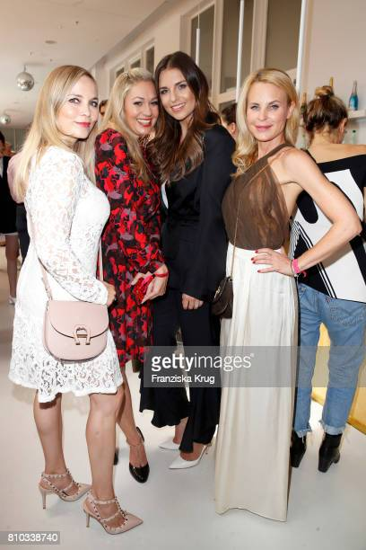 Regina Halmich Ruth Moschner Laura Wontorra and Sonja Kiefer attend the Gala Fashion Brunch during the MercedesBenz Fashion Week Berlin Spring/Summer...