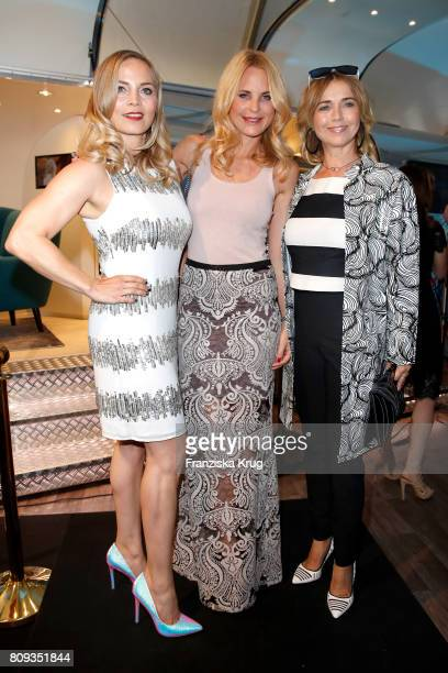 Regina Halmich Sonja Kiefer and Tina Ruland attend the Guido Maria Kretschmer Fashion Show Autumn/Winter 2017 presented by OTTO at Tempodrom on July...